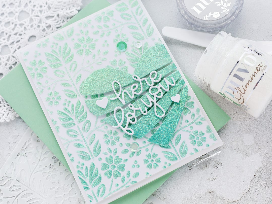 Adding Sparkle + Simon Says Stamp New Release