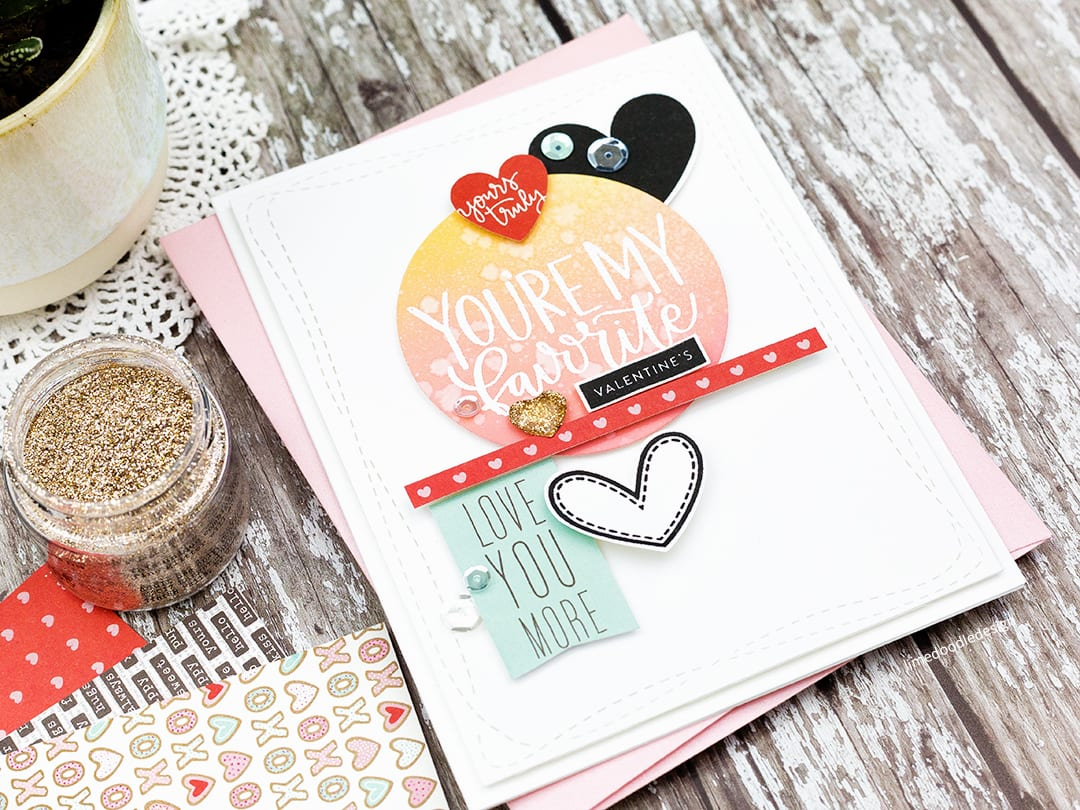 All the hearts for the first card kit of 2018 from Simon Says Stamp. Handmade Valentine's card by Debby Hughes. Find out more: http://limedoodledesign.com/2017/12/all-the-hearts-for-the-simon-says-stamp-january-card-kit/