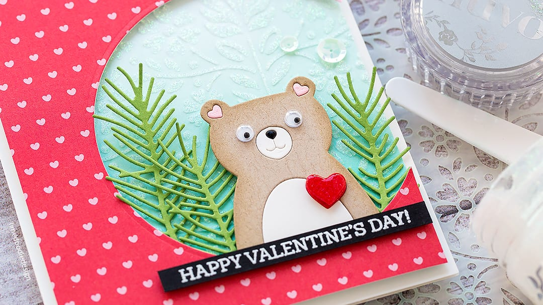 Cute handmade Valentine's card with Debby Hughes. On this card I'm adding those finishing touches which really takes a project up a notch. Find out more here: http://limedoodledesign.com/2018/02/finishing-touches-doodling-with-debby/