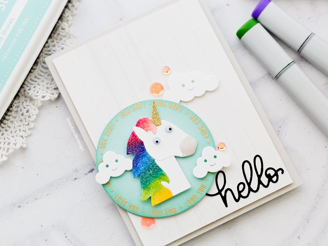 Picture Book Unicorn handmade cute unicorn card by Debby Hughes using supplies from Simon Says Stamp. Find out more here: http://limedoodledesign.com/2018/02/picture-book-unicorn/
