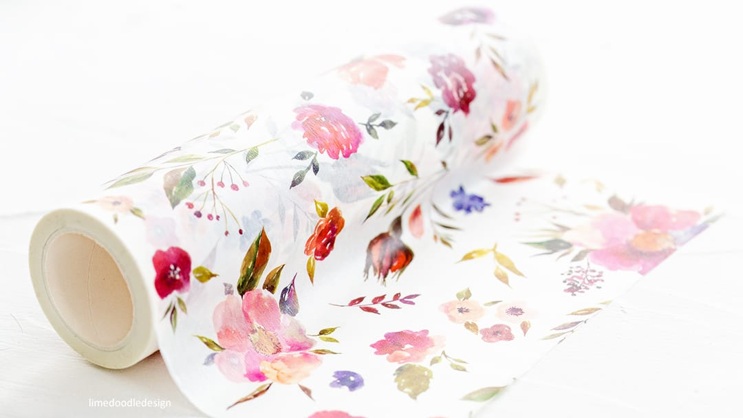 Altenew Floral Flurries Washi Tape. Find out more here: http://limedoodledesign.com/2018/03/video-altenew-march-2018-release-blog-hop-giveaway/