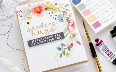 Watercoloured Wreath + Picking A Colour Palette