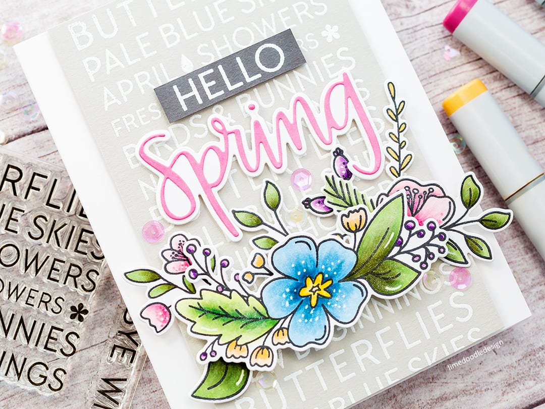 Video – Hello Spring + Simple Copic Colouring