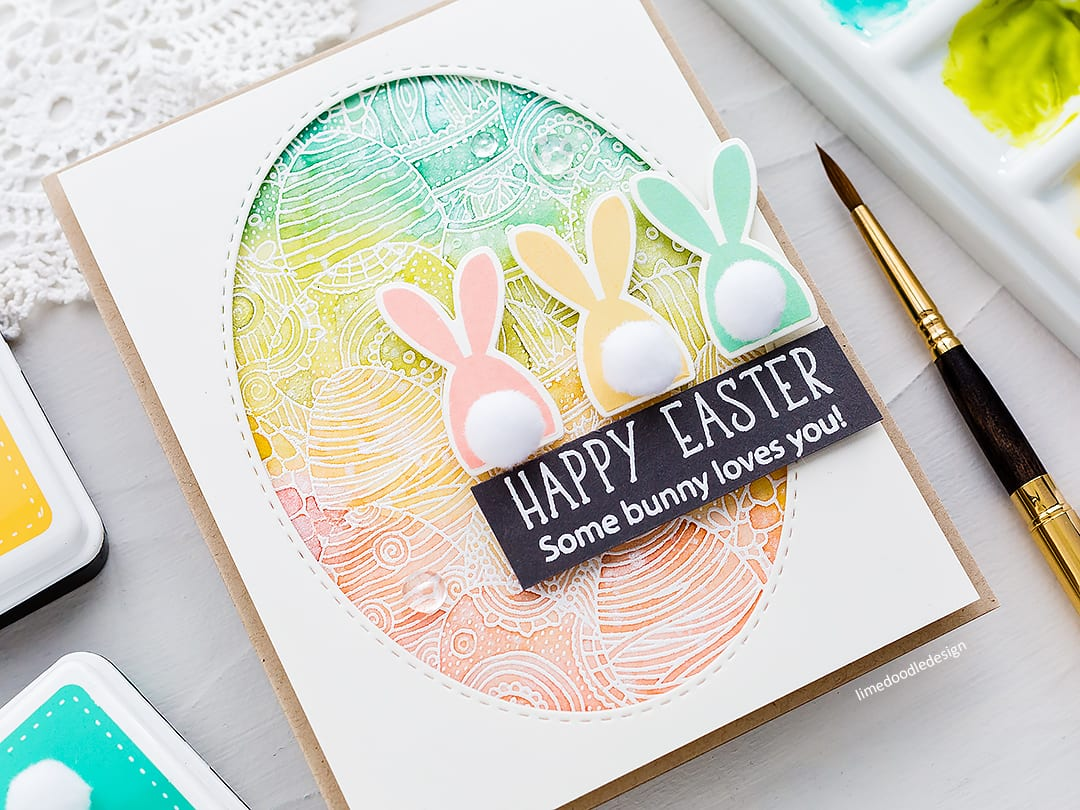 Video – Watercolour Emboss Resist Cute Easter