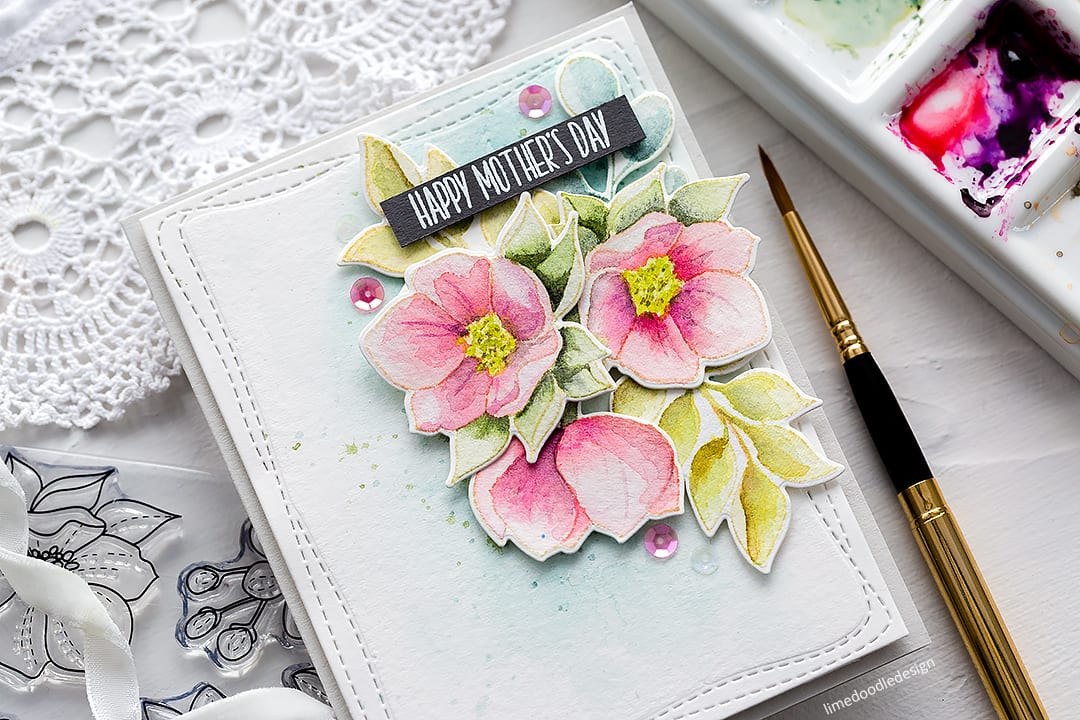 Video – Watercoloured Mother's Day Card + Simon Says Stamp New Release Blog Hop