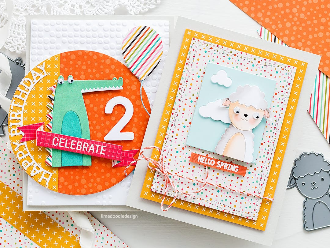 Cute birthday and spring handmade cards by Debby Hughes using the Picture Book die series from Simon Says Stamp. Find out more here: http://limedoodledesign.com/2018/03/more-picture-book-fun-simon-says-stamp-new-release/