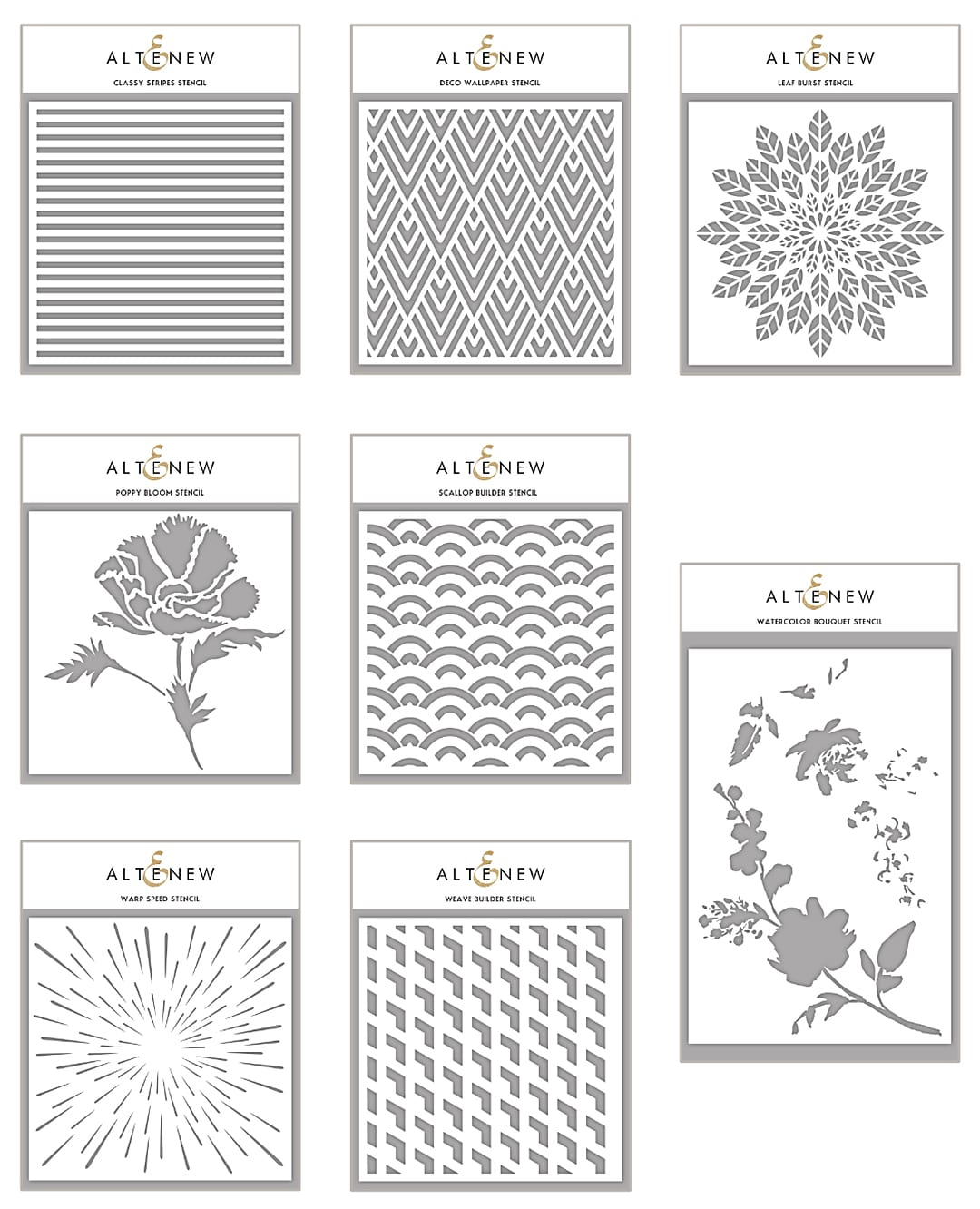 New Altenew Stencils. Find out more here: http://limedoodledesign.com/2018/03/video-altenew-march-2018-release-blog-hop-giveaway/