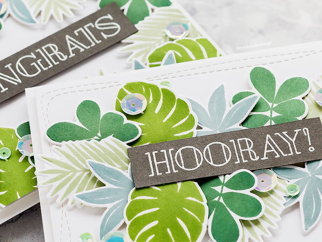 Simply Stamped Tropical Leaves Designs