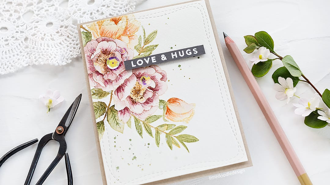 Video review of Prima Watercolor Confections + video tutorial of a handmade floral greeting card. Find out more here: http://limedoodledesign.com/2018/05/video-prima-watercolor-confections-review/