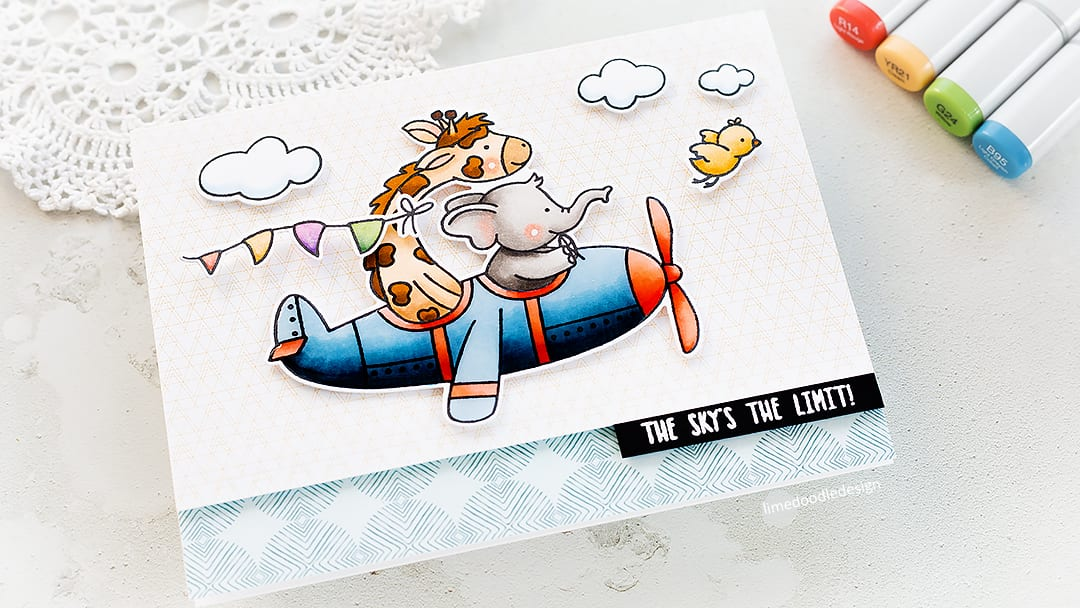 Video – Fun, Cute Card With Copic Colouring