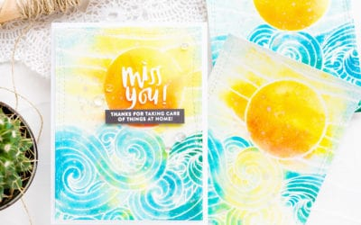 Faux Watercolouring With Distress Inks + Giveaway