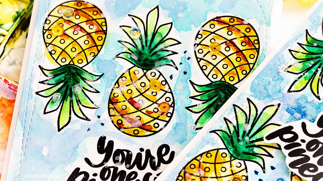 Learning to let go - messy watercoloured handmade summer card by Debby Hughes using the July Card Kit from Simon Says Stamp. Find out more here: http://limedoodledesign.com/2018/06/learning-to-let-go-messy-watercolouring/