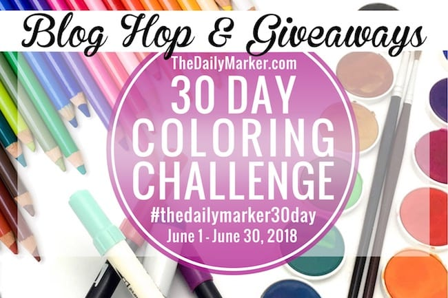 The Daily Marker Winner 30 Day Coloring Challenge Winner