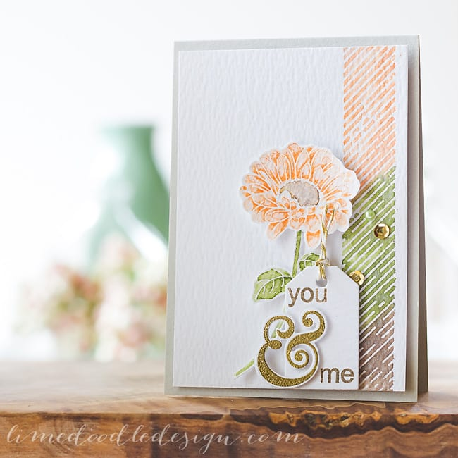 Debby Hughes - Lime Doodle Design - Clearly Besotted stamps & dies, Simon Says Stamp card