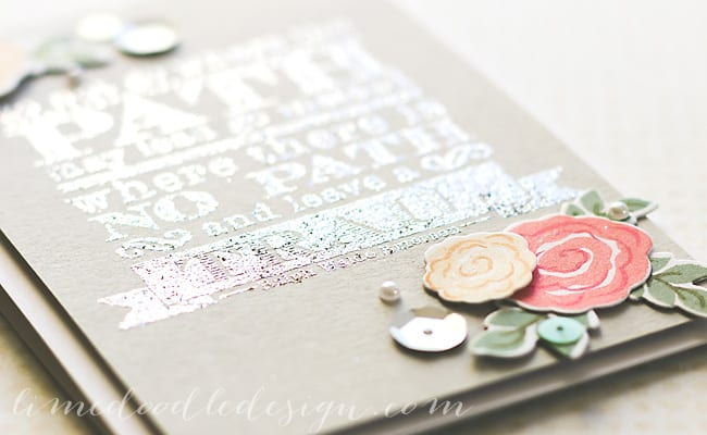 Debby Hughes - Lime Doodle Design - Clearly Besotted Stamps & dies, Simon Says Stamp card & Hero Arts inks