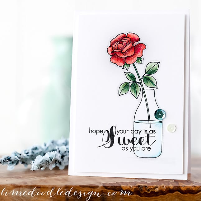 Debby Hughes - Lime Doodle Design - Clearly Besotted Stamps July release