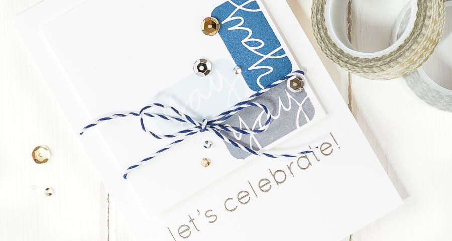 Yay, let's celebrate with the December card kit! For more please visit https://limedoodledesign.com/2014/11/card-kit/ Debby Hughes - Lime Doodle Design #cardkit #sssck