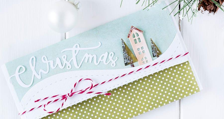 Gift card/money envelope. For more please visit https://limedoodledesign.com/2014/12/gift-card-envelope/ Debby Hughes - Lime Doodle Design - #gift #card #money #envelope #christmas