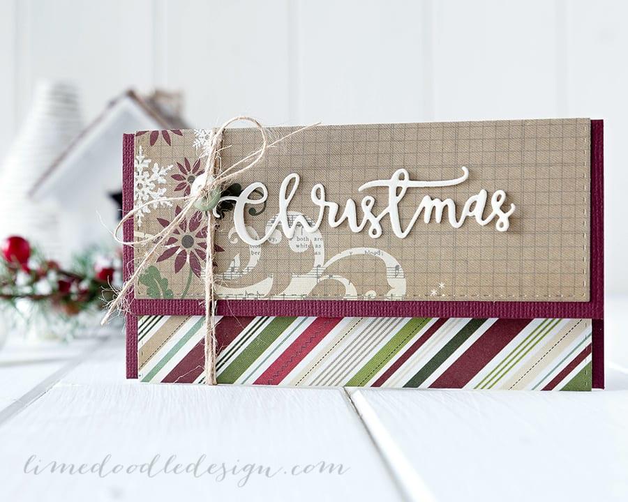 Gift card/money envelope - for more please visit https://limedoodledesign.com/2014/12/more-paper-stash-busting/ Debby Hughes - Lime Doodle Design #christmas #gift #card #money #envelope