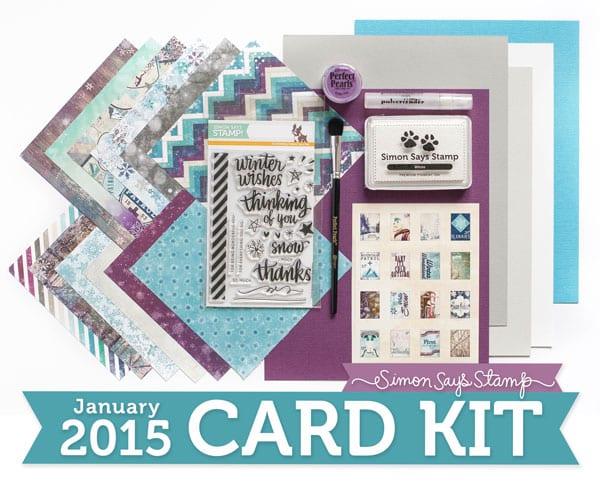 Simon Says Stamp January card kit