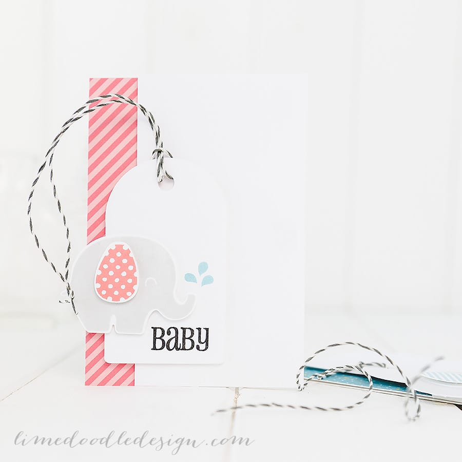 Simply stamped baby cards. For more please visit https://limedoodledesign.com/2015/01/baby/ Debby Hughes - Lime Doodle Design #baby #card #elephant