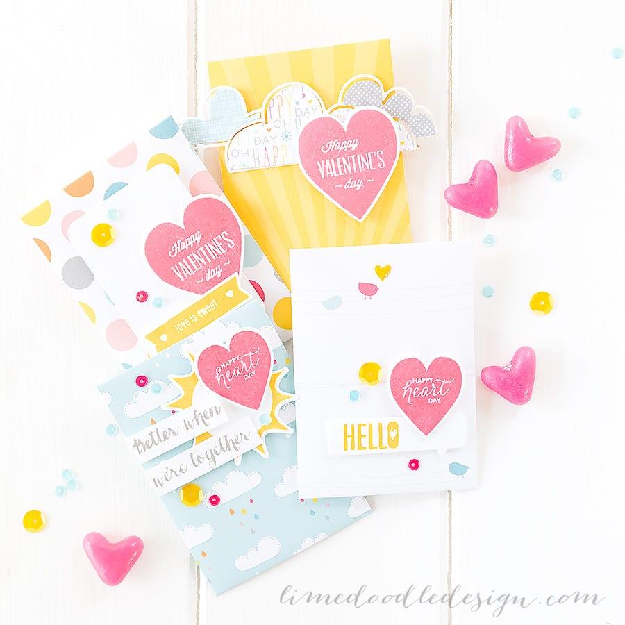 Valentine fun. For more please visit https://limedoodledesign.com/2015/01/better-together/ Debby Hughes - Lime Doodle Design - #valentine #envelope #treat #bettertogether