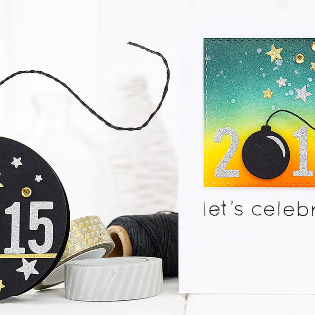 Happy New Year! For more please visit https://limedoodledesign.com/2015/01/happy-new-year-2/ Debby Hughes - Lime Doodle Design #new #year #card