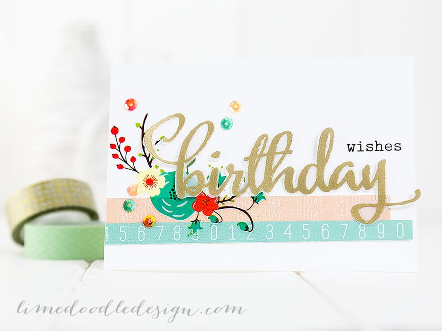 Birthday Card and tag. For more please visit https://limedoodledesign.com/2015/01/birthday-wishes-3/ Debby Hughes - Lime Doodle Design #birthday #card #tag
