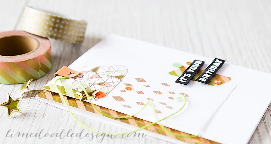Debby Hughes - Lime Doodle Design https://limedoodledesign.com/2015/03/its-your-birthday/ #sssck #card #kit