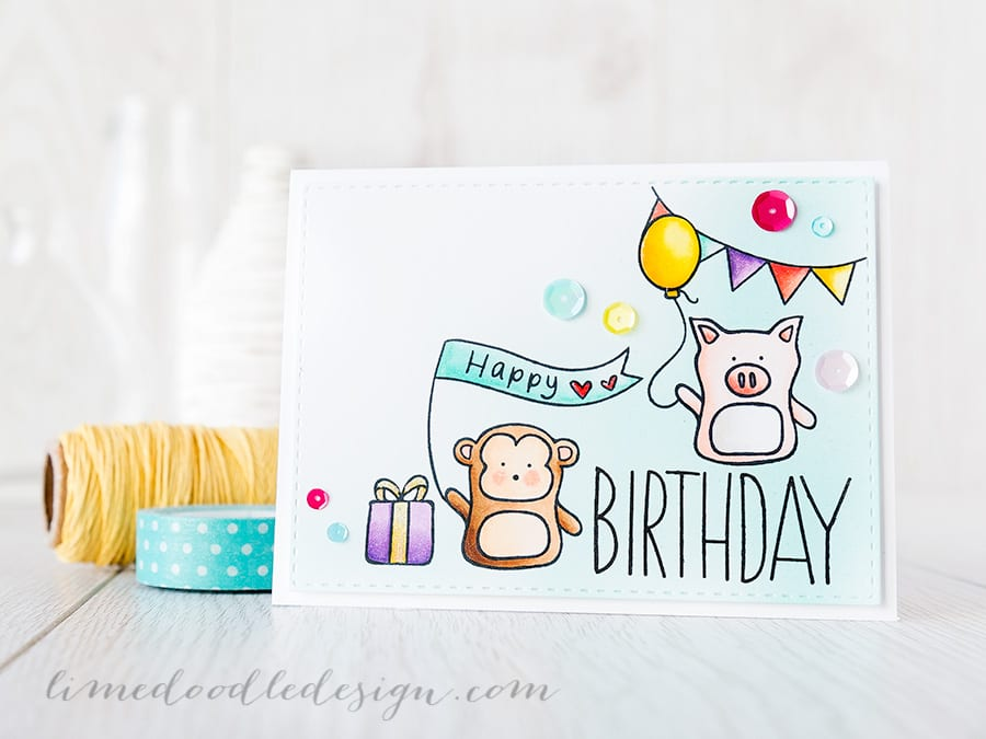Debby Hughes - Lime Doodle Design https://limedoodledesign.com/2015/04/falling-for-you-blog-hop/ #card #birthday #sssfallingforyou #bloghop
