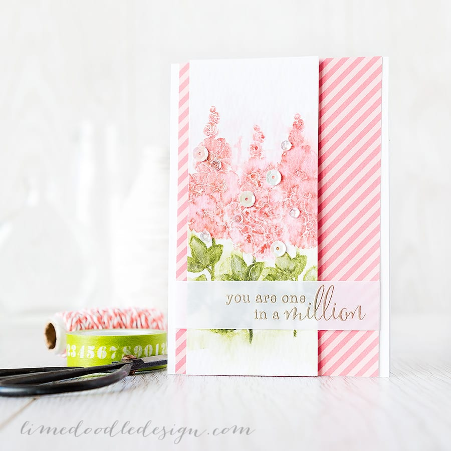 Debby Hughes - Lime Doodle Design https://limedoodledesign.com/2015/05/messy-watercolouring/ #card #flower #watercolour #watercolor
