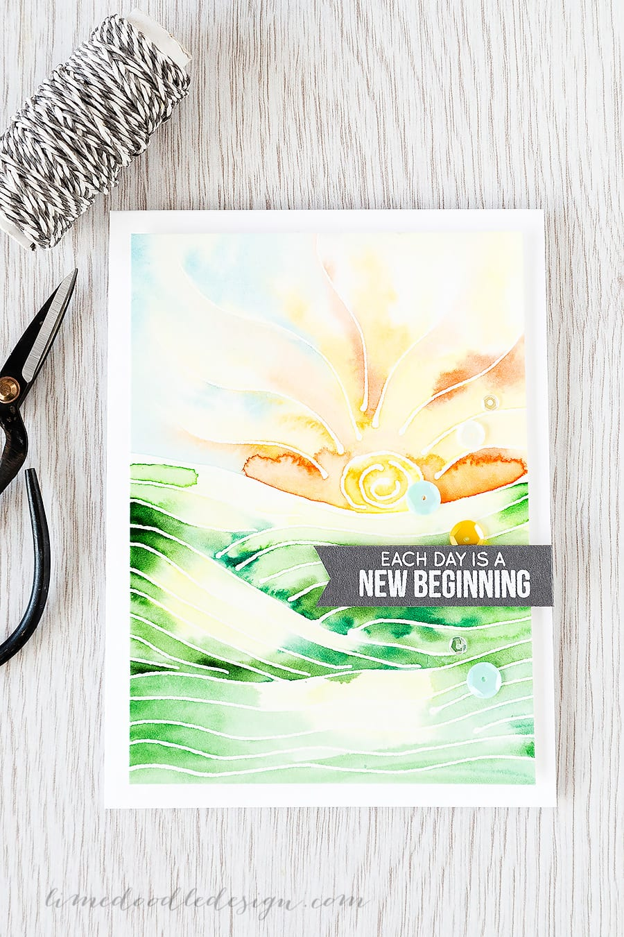 drawing with masking fluid - Debby Hughes - Lime Doodle Design https://limedoodledesign.com/2015/05/drawing-with-masking-fluid/ #masking #fluid #frisket #rubber #cement #sunrise #new #day