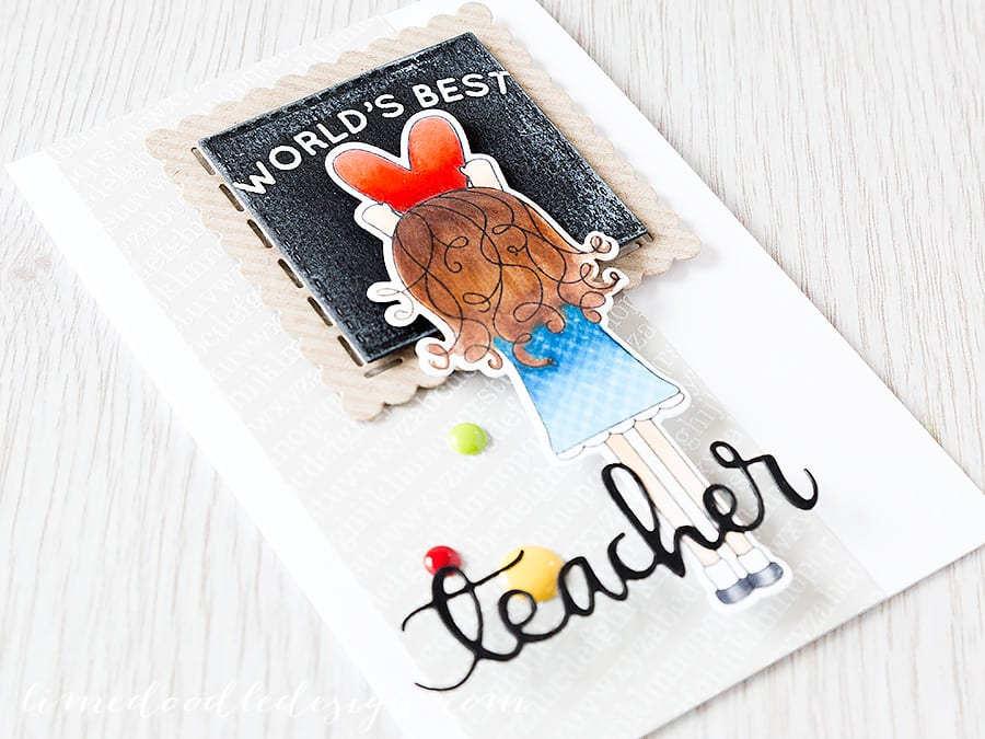 teacher card Debby Hughes - Lime Doodle Design https://limedoodledesign.com/2015/05/worlds-best-teacher-2/ #teacher #card #blackboard #heart