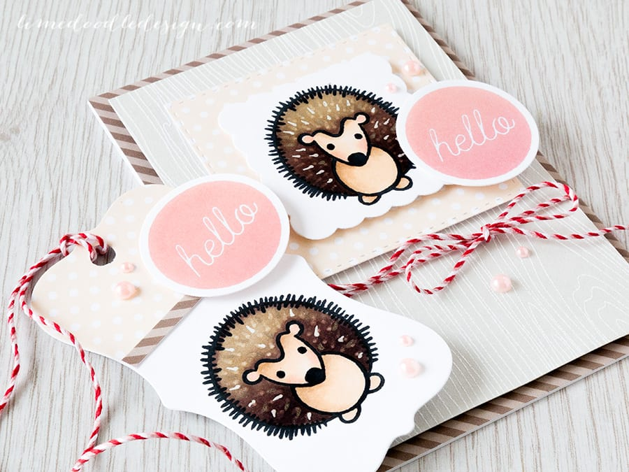 Hero Arts hedgehog family - Debby Hughes - Lime Doodle Design https://limedoodledesign.com/2015/06/hedgehog-family/ #card #heroarts #playful #animals #tag #hedgehog