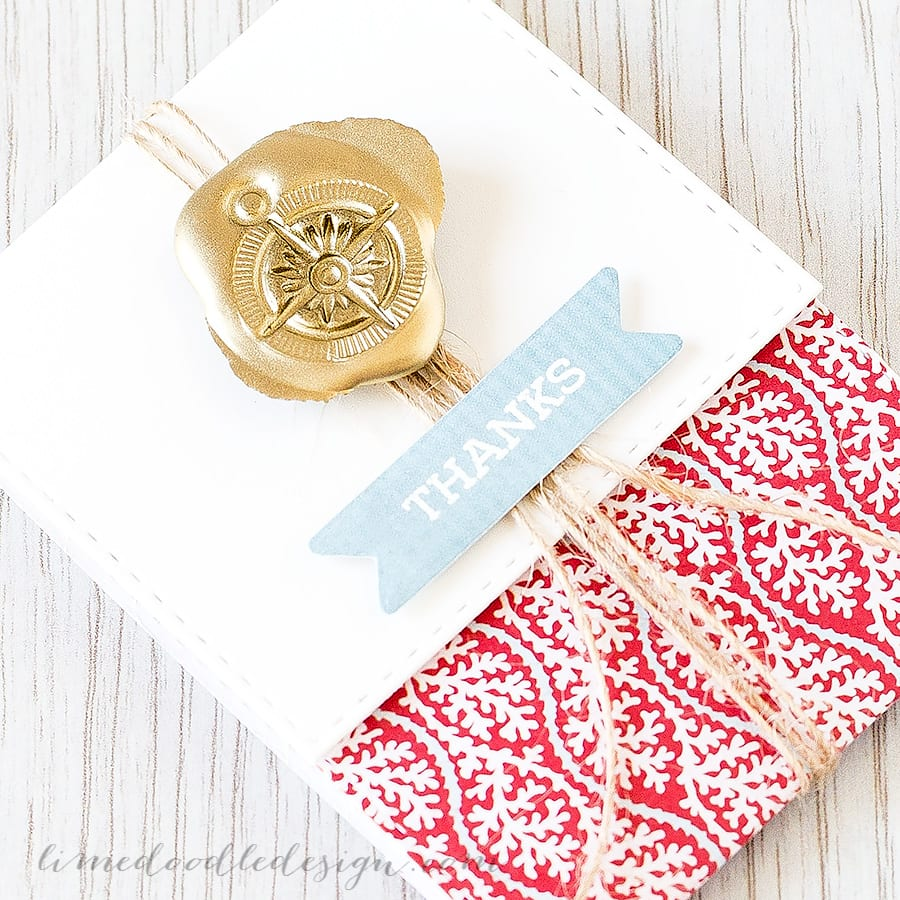 faux wax seal - Debby Hughes - Lime Doodle Design https://limedoodledesign.com/2015/06/faux-wax-seal/ #card #wax #seal #faux #mock #gold