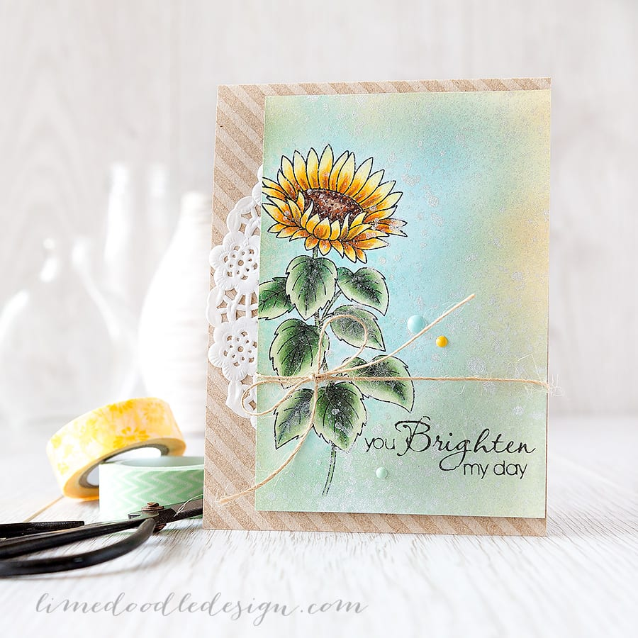 combining copics and distress inks - Debby Hughes - Lime Doodle Design https://limedoodledesign.com/2015/06/combining-copi…-distress-inks/ #copic #distress #card #flower