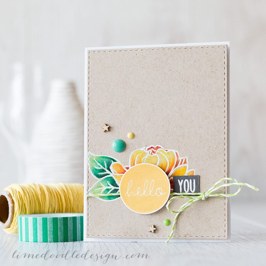 Pencils on kraft card go so well together! I'm using the flower from Winnie & Walter's Addie's Garden set and Prismacolor pencils. Learn how by clicking on the following link: https://limedoodledesign.com/2015/07/pencils-on-kraft/ ~ Debby Hughes ~ Lime Doodle Design
