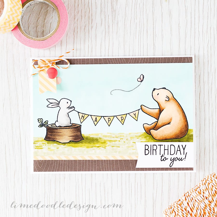 Simple masking helped to bring this scene together using the adorable Happy Mail set from Wplus9. Find out more by clicking on the following link https://limedoodledesign.com/2015/07/simple-masking/ Debby Hughes ~ Lime Doodle Design