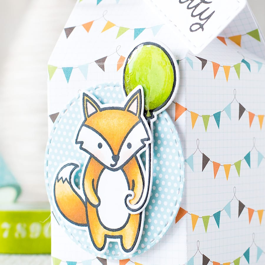 I'm a sucker for a good gift box! The Lawn Fawn milk carton die makes it super easy to make too. Learn how by clicking on the following link: https://limedoodledesign.com/2015/07/gift-box-lawn-fawn-milk-carton/ ~ Debby Hughes ~ Lime Doodle Design