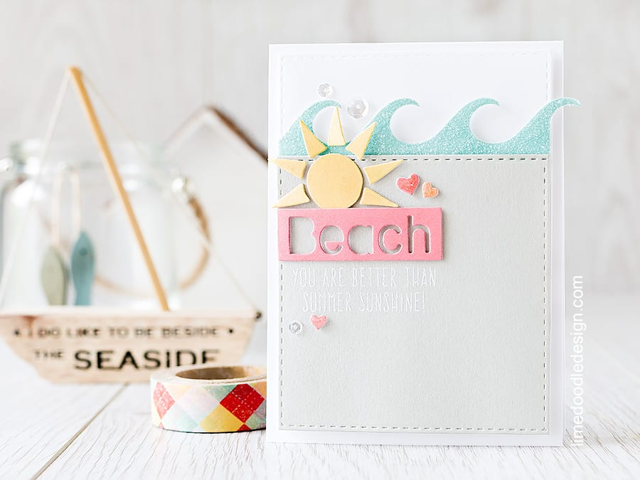 Sparkling waves and shimmering sun from the new release Splash of Color from Simon Says Stamp . Find out more by clicking on the following link: https://limedoodledesign.com/2015/07/new-release-splash-of-color/