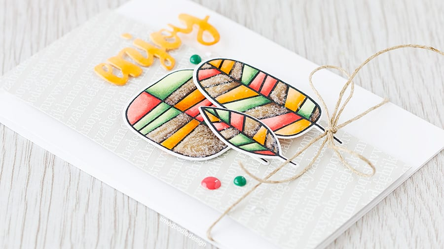 Embellished die cuts really add a wow factor to a card; the little details like Glossy Accents and glitter really take things up a notch. Find out more by clicking on the following link: https://limedoodledesign.com/2015/07/video-hop/