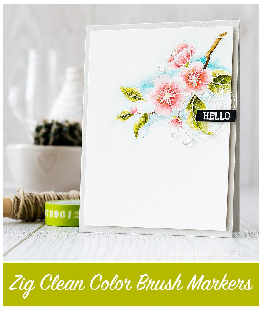 Video of how I like to use Zig Clean Color Brush Markers to watercolor a flower image. Find out more by clicking the following link: https://limedoodledesign.com/2015/08/video-zig-clea…-brush-markers/