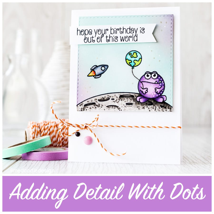 Video - looking at adding detail with dots to Copic colouring. Find out more by clicking the following link: https://limedoodledesign.com/2015/08/adding-detail-with-dots/