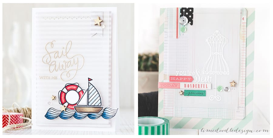 Looking at the different ways to use vellum. Vellum is one of my most favourite crafting supplies; not only is it a beautiful semi translucent medium to work with it is also very versatile. Find out more by clicking the following link: https://limedoodledesign.com/2015/08/vellum-review/