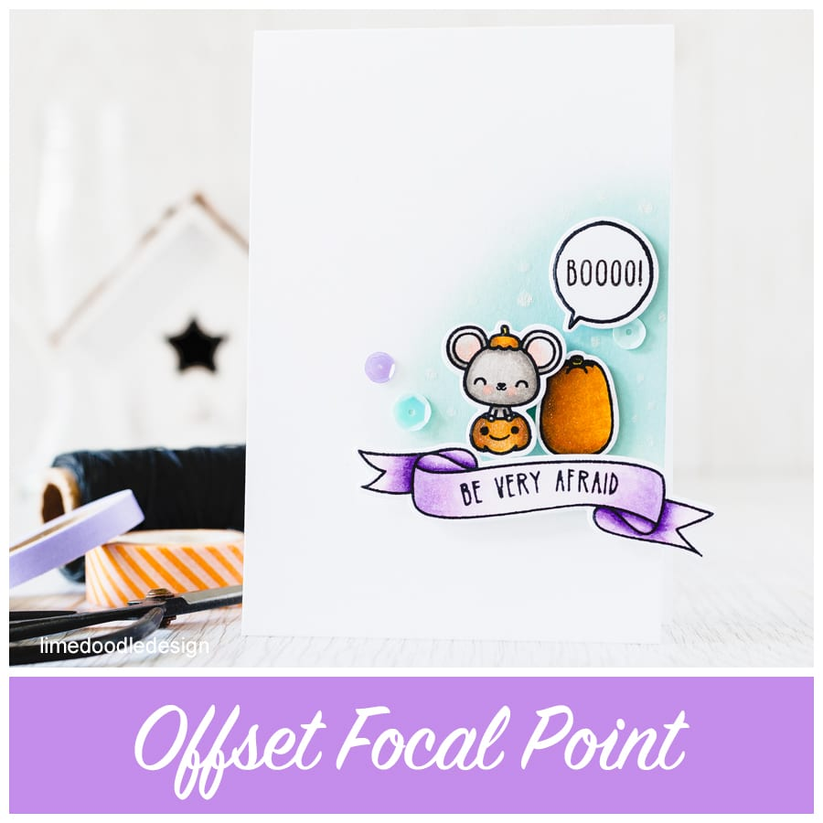 Using an offset focal point to draw the eye and create a more interesting focal point. For more please click the following link: https://limedoodledesign.com/2015/08/offset-focal-point/