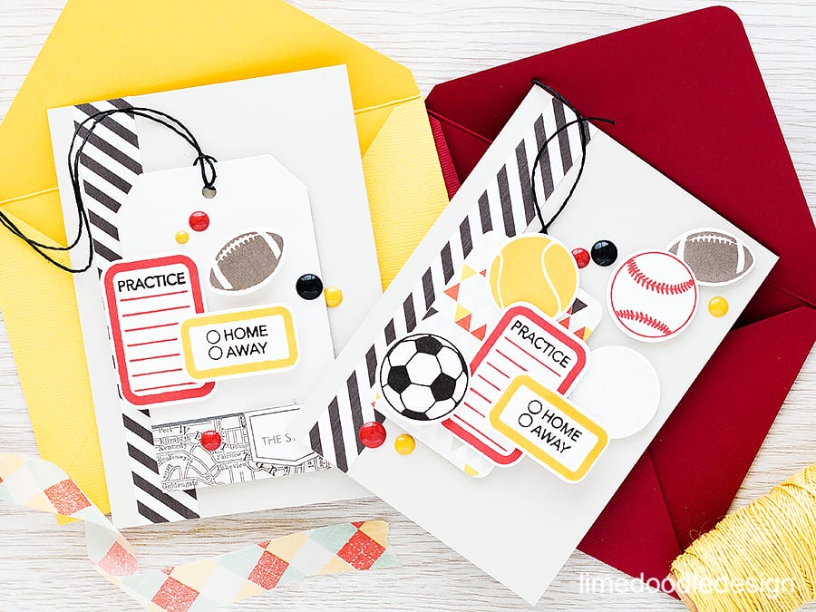 Treading the fine line of teen boys cards with these sports cards inspired by the colors of the local team. Find out more by clicking the following link: https://limedoodledesign.com/2015/10/teen-boy-cards/