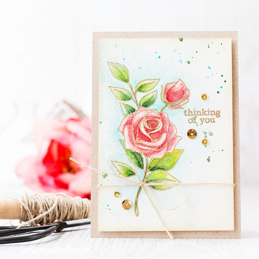gold embossed flowers