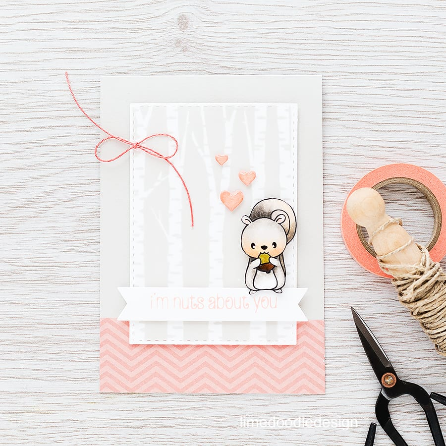 Beautiful birches as a backdrop for the cutest squirrel! For more details please click on the following link: https://limedoodledesign.com/2015/11/beautiful-birches/