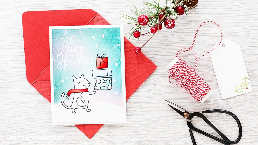 Adorable stamp set from the December Card Kit! Find out more here: https://limedoodledesign.com/2015/11/video-december…rd-kitgiveaway/