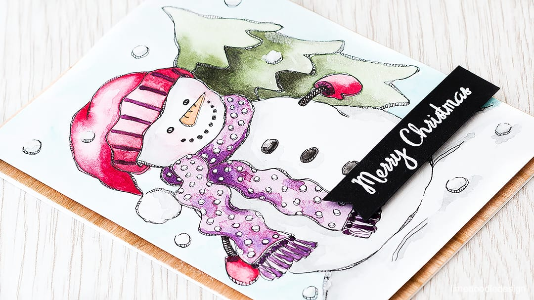 I couldn't resist this snowman from the pack of watercolor prints designed by Suzy Plantamura for Simon Says Stamp. Find out more by clicking on the following link: https://limedoodledesign.com/2015/11/watercolor-snowman-giveaway/